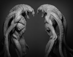 Lamia by Luke Starkie Alien Concept Art, Creature Concept Art, Creature Design, Character Art, Character Design, Creatures 3, Monster Design, Horror Art, Art Sketchbook