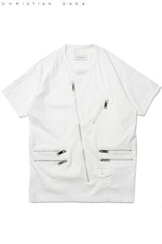 【CHRISTIAN DADA】2015 motor cycle top white