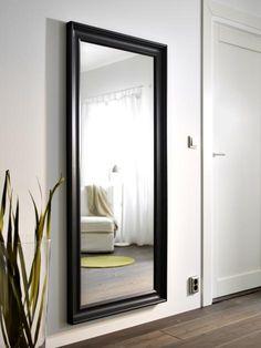 mongstad spegel svartbrun inredning sovrum och f r hemmet. Black Bedroom Furniture Sets. Home Design Ideas