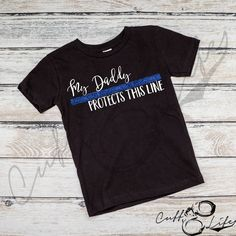 My Daddy Protects This Line - Toddler/Youth T-Shirt
