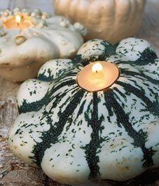 Autumn decor- gourd candles