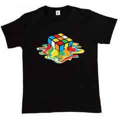 Melting Rubix Cube - Fancy A T-Shirt