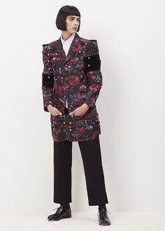 Comme des Garcons Shoulder Jacket (Black / Red Flower)