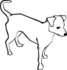 dog simple drawing clip art vector clip art online royalty free rh pinterest com black and white dog house clipart black and white dog paw print clipart