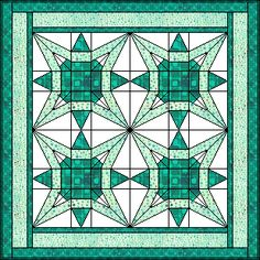 Free quilt block... New Star would make a beautiful stain glass piece