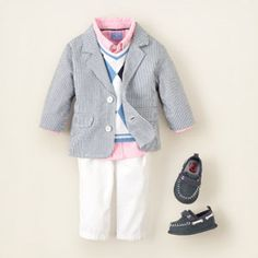 Baby dressy spring clothes. I want to get this for my baby boy! Cute first Easter outfit!!