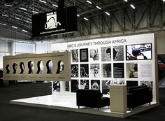 """NBC exhibition stand   IRF 2012 by XZIBIT`S """"EYE LOVE CANDY"""" PORTFOLIO, via Flickr **Like the cut-out hanging idea**"""