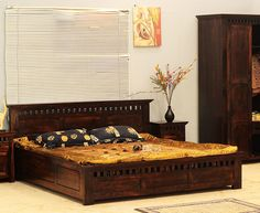 Solid Wood Kuber Bed