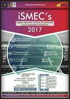 #ISMECS #Entrepreneurship #Competition #Asia #UB #Brawijaya #Malang iSMEC's 2017 Industrial on Small & Medium Enterprise Competition  DEADLINE: 15 September 2017  http://infosayembara.com/info-lomba.php?judul=ismecs-2017-industrial-on-small-medium-enterprise-competition