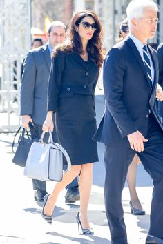 Amal Clooney maternity wardrobe is awesome