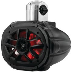 """Boss 6"""" X 9"""" 600-watt 4-way Marine Wake Tower Speaker With Rgb Led Lights"""