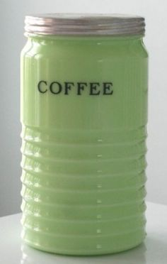 Jadite Coffee Canister