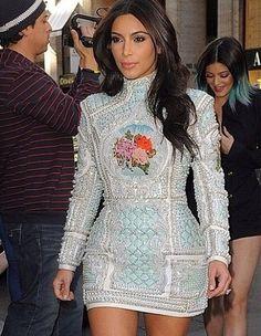 Get Kim Kardashian's Balmain Bachelorette Party Dress For Way Less Than She Spent