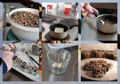DIY over hoe je zelf vetbollen kunt maken voor de vogels in de winter.  Feed the birds in the winter!