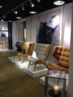 NORR11 Mammoth Chairs in different options in the Berlin showroom