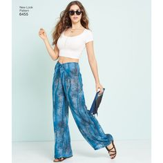 6455 Misses' Tie Front Pants, Shorts and Skirts | Simplicity