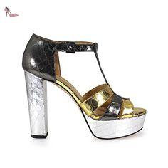 MICHAEL KORS DONNA 40R7MEMS1M 041 SANDALI ORO-ARGENTO VITELLO STAMPATO SPRING-SUMMER 2017 - Chaussures michael kors (*Partner-Link)