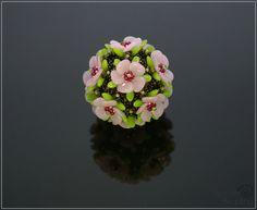 Spirala beading: Hibiscus Beaded Bead