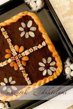 Mazurek z daktylami Polish Recipes, Polish Food, Easter Recipes, Tiramisu, Pie, Yummy Food, Ethnic Recipes, Cook, Traditional