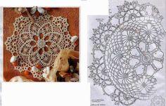 Hobby lavori femminili - ricamo - uncinetto - maglia: Centrino tondo a uncinetto