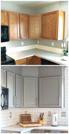 Kitchen Reveal 80s to Awesome | Professional painters, Enamel paint on