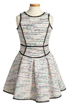 Milly Minis Scoop Neck Tweed Dress (Big Girls) available at #Nordstrom