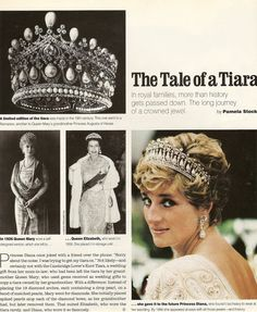 Cambridge Lover's Knot Tiara ~ Queen Mary passed it down to Queen Elizabeth II, who passed it down to Lady Diana to wear on her wedding day. Royal Crown Jewels, Royal Crowns, Royal Tiaras, Royal Jewelry, Tiaras And Crowns, Jewellery, British Crown Jewels, Princesa Diana, Lady Diana