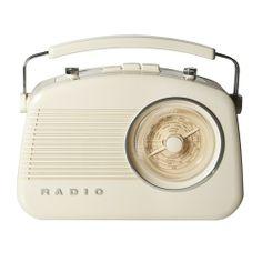 Rádio Retrô AM/FM Branco   http://loja.fulanaguacu.com.br