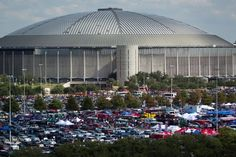 """Houston Astrodome. """"The 8th Wonder of the World"""". We saw several baseball games here, including the last series played - Dodgers vs Astros."""