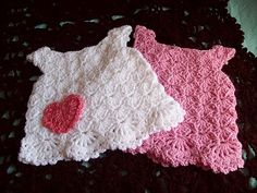 #Free Pattern; crochet; baby dress ~~