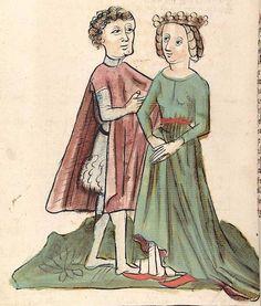 'Virginal' — Hagenau - Werkstatt Diebold Lauber, um 1444-1448 Cod. Pal. germ. 324 Folio 177v