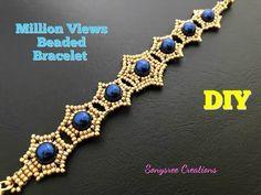Million Views Perlen Armband. , Million Views Beaded Bracelet. How to make beaded Million Views Perlen Armband. Beaded Bracelets Tutorial, Beaded Bracelet Patterns, Jewelry Patterns, Beaded Earrings, Bracelet Designs, Embroidery Bracelets, Jewelry Ideas, Diy Jewelry, Jewelry Necklaces