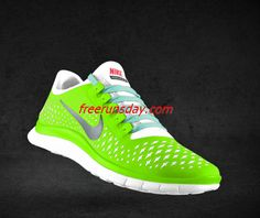 Wholesale Womens Nike Free Liquid Lime Reflective Silver White New Green Lace Shoes Nike Shoes For Sale, Nike Free Shoes, White Lace Shoes, Yellow Lace, Blue Lace, Tiffany Blue Shoes, Nike Free Run 3, Free Runs, Roshe Run Shoes