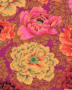 Kaffe Collective - Brocade Peony - Quilt Fabrics from www.eQuilter.com