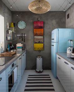 baby blue mini kitchen #kitchen #kitchendesign #smeg #interiordesign