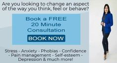 Hypnotherapy, Pain Management, Phobias, Self Esteem, Thinking Of You, Depression, Anxiety, Confidence, Stress