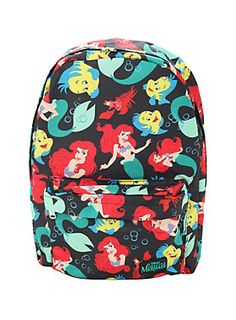 62b5221fa6b Disney The Little Mermaid Ariel Flounder Sebastian Backpack