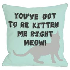 Got to be Kitten Me Pillow
