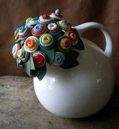 Botões, ideias criativas!- Artesanato, Patchwork, Pintura em Madeira e Patchcolagem – Portal do Artesanato – Faça Arte!