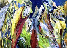 Gabriele Strehlau, Im Wald, Gouache auf Papier, 50 x 70 cm, 2010, 750 €