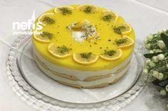Limonlu Kedidilli Hafif Pasta Tarifi Easy Cake Recipes, My Recipes, Simple Cake Designs, World Recipes, Turkish Recipes, Food Design, No Cook Meals, Yummy Cakes, Food And Drink