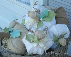 burlap pumpkins!!  how to make this?
