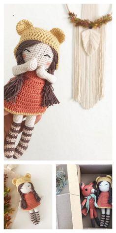 Amigurumi The Sleeping Doll Free Pattern – Amigurumi Crochet Knitting Dolls Free Patterns, Knitted Dolls Free, Crochet Doll Clothes, Amigurumi Patterns, Doll Patterns, Crochet Doll Tutorial, Crochet Doll Pattern, Crochet Patterns, Cute Crochet