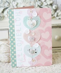 Hello Love Card by Melissa Phillips for Papertrey Ink (December 2014)