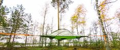 Tentsile Experience Camp — Hidden Island Laukanharju Outdoor Furniture, Outdoor Decor, Finland, Places To Go, Camping, Park, Home Decor, Campsite, Decoration Home