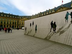 Even the construction hoarding in Paris is perfect!