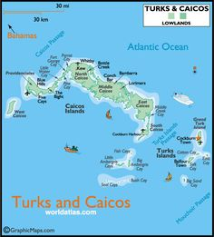 Turks And Caicos Tourism Information | ... Turks and Caicos Map, Map of Turks and Caicos, Turks and Caicos Real