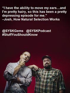 @SYSKPodcast @SYSKGems #StuffYouShouldKnow