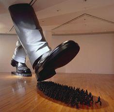 'Karma' sculpture by Korean artist Do Ho Suh; installation at the Artsonje Center, Seoul, South Korea Do Ho Suh, Social Art, Art Abstrait, Korean Artist, Conceptual Art, Installation Art, Art Installations, Asian Art, Sculpture Art