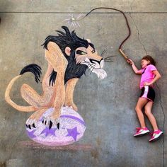 Scar Lion King Chalk Drawing